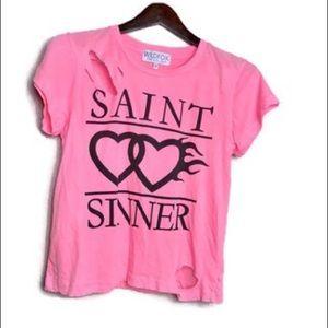 Wildfox || $66 Saint Sinner Thrashed Top
